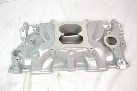 Small Block Chevy Intake Manifold Dual Plane Powder Coated AVENGER VORTEC - Source Automotive Engineering