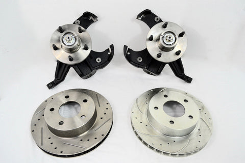"CHEVY GM C10 C15 TRUCK 1963-87 2.5"" DROP SPINDLE KIT 2 PIECE HUB & ROTOR 5 LUG - SAE-Speed"