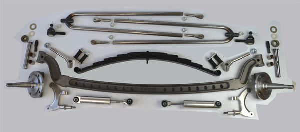 "1928-48 FORD MODEL A 4"" DROPPED BEAM KIT W/O BRAKES - Source Automotive Engineering"