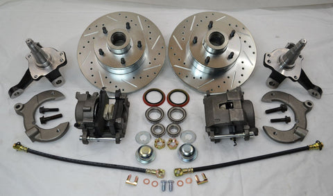 Mustang II  Disc Brake Conversion Kit With Drilled & Slotted Rotors - Source Automotive Engineering