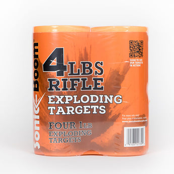 1 lb Exploding Rifle Target - 4 Pack