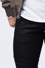 Paneled 11.oz Black Italian Stretch