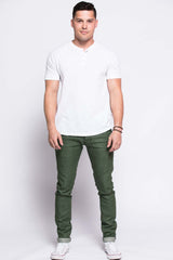 12.oz Green Denim