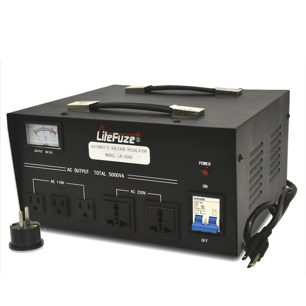LiteFuze 5000 Watt Voltage Regulator / Transformer Heavy Duty LR-5000