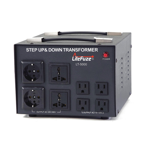 LiteFuze 5000 Watt Voltage Converter Transformer LT-5000