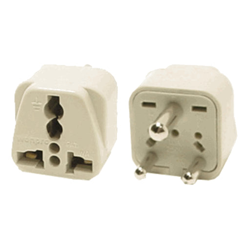 Universal Grounded Travel Plug Adapter for India