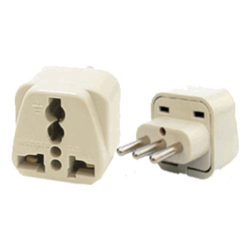 Universal Grounded Travel Plug Adapter for Italy Uruguay