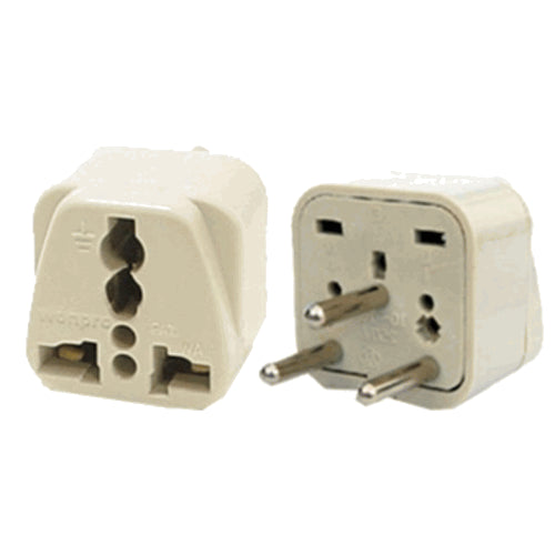 Universal Grounded Travel Plug Adapter for Israel Palestine