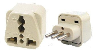 Grounded Universal Plug Adapter Type L For Italy, Uruguay