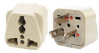 Grounded Universal Plug Adapter Type I For Australia, New Zealand, China