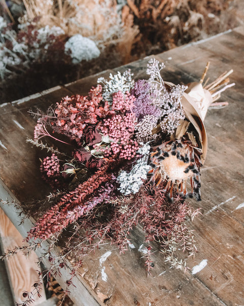 LARGE DRIED BOUQUET | PINK