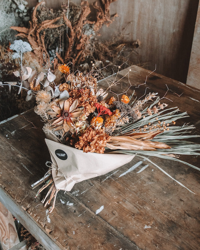 LARGE DRIED BOUQUET | TERRACOTTA