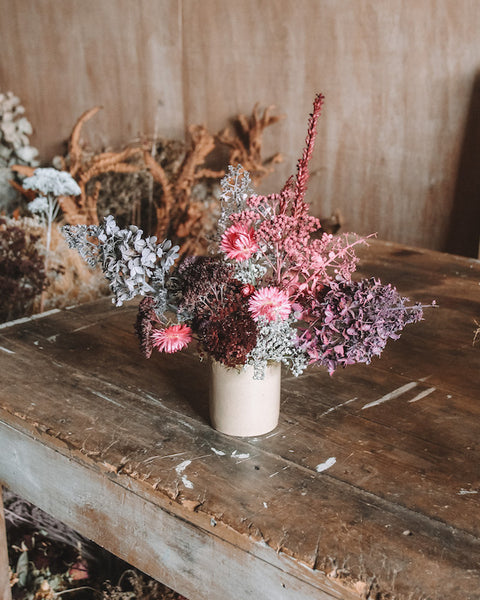 MEDIUM DRIED ARRANGEMENT | PINK