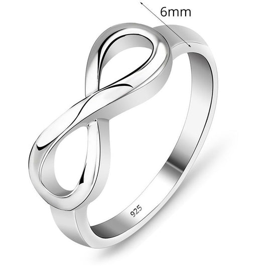 925 Sterling Silver Infinity Ring Endless Love Symbol Rings Jewelry - Levi Emmanuel