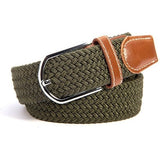 Canvas Woven Leather Pin Buckle Elastic Unisex Belt - Levi Emmanuel