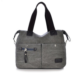 New Fashion Simple Casual Portable Canvas Shoulder Handbags - Levi Emmanuel