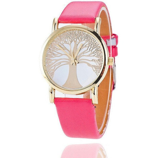Tree of Life Gold Quartz Casual Leather Strap Fashion Watch - Levi Emmanuel