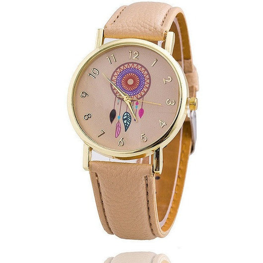 Women Tribal Fashion Dreamcatcher Ladies Quarzt Watch - Levi Emmanuel