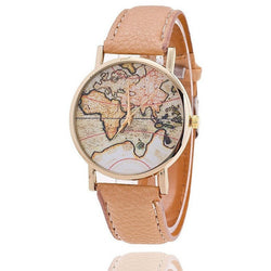 World Map Watch Casual Women Dress Quartz Watches - Levi Emmanuel