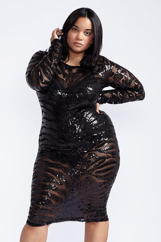 Plus Size In Between The Lines Dress