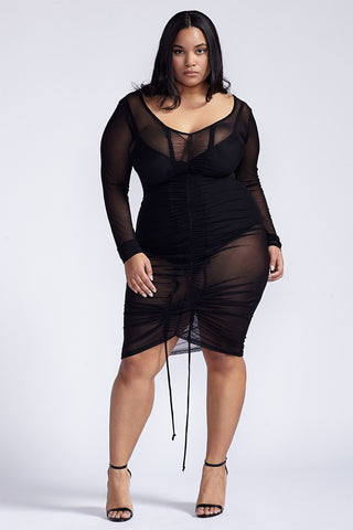 Plus Size Meshy Dress