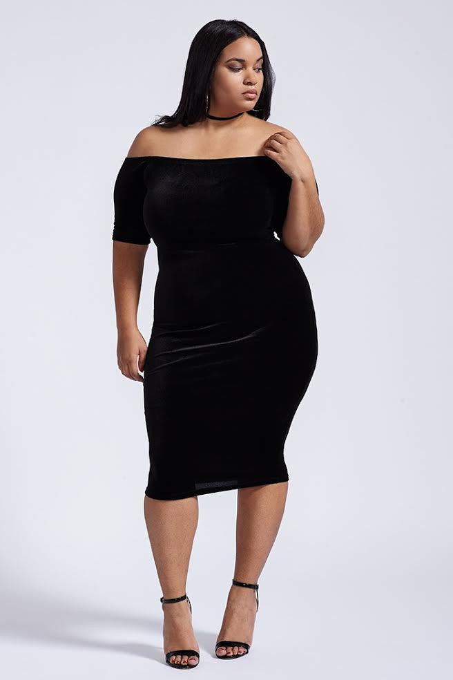 Plus Size Subtle Tease Dress