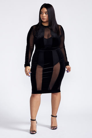 Plus Size Touch Of Velvet Dress