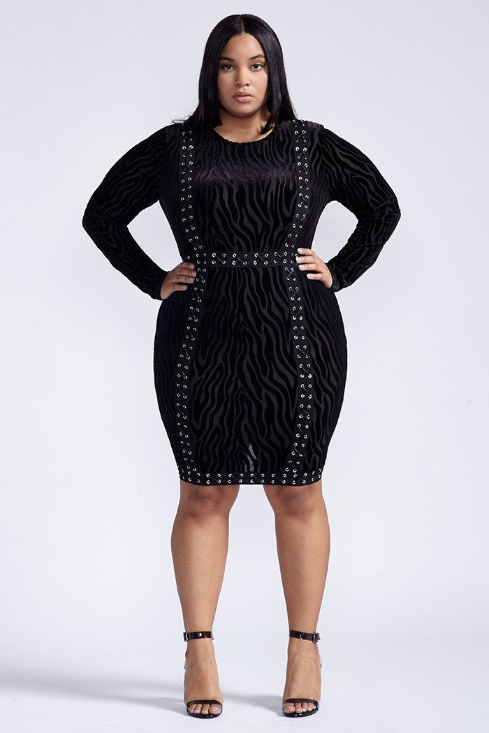 Plus Size Let's Meet Dress