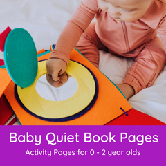Quiet Book Pages for Babies