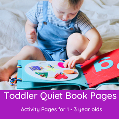 Toddler Quiet Book Pages