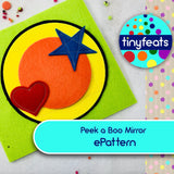 ePattern - Peek a Boo Mirror Quiet Book Page Sewing Pattern