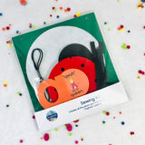 DIY Sewing Kit for Ladybug Zipper & Lacing Quiet Book Page