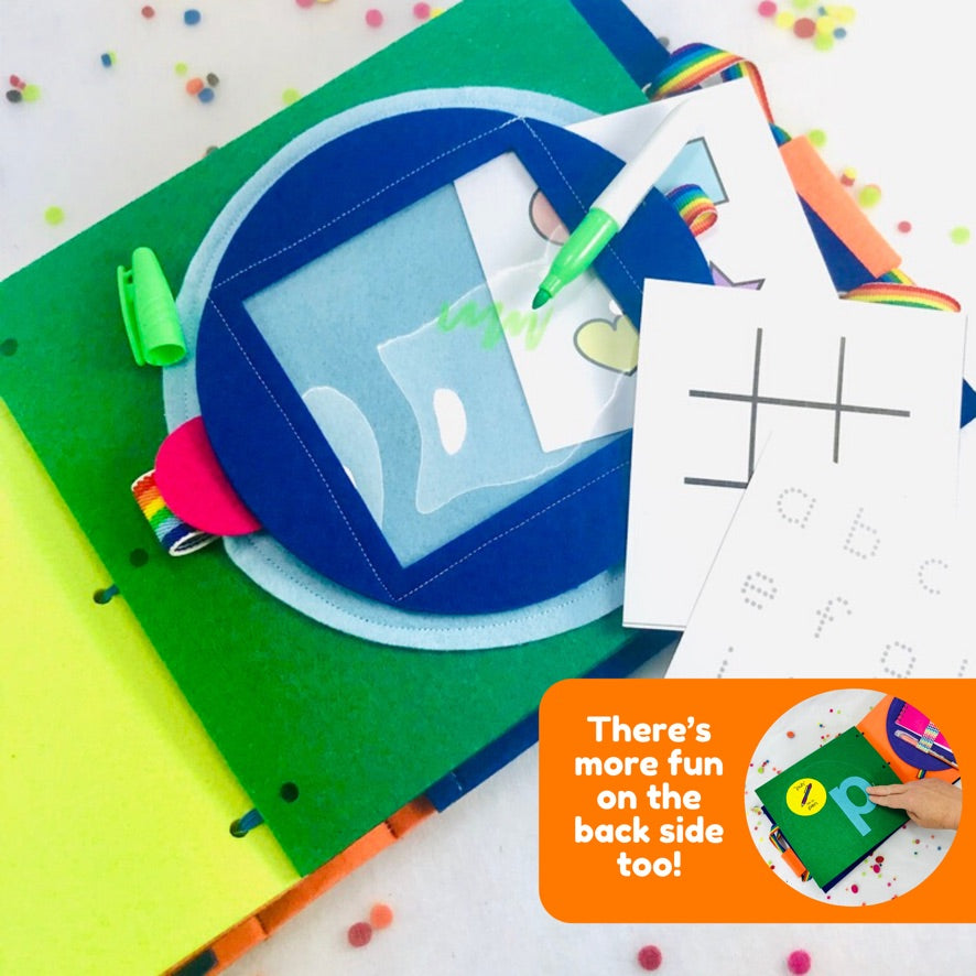 Dry Erase White Board Quiet Book Page