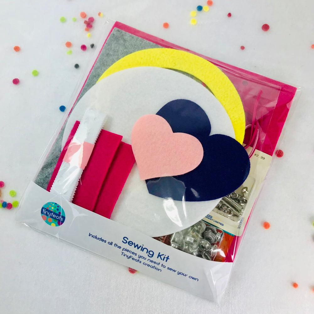 DIY Sewing Kit for Pink Hearts Quiet Book Cover