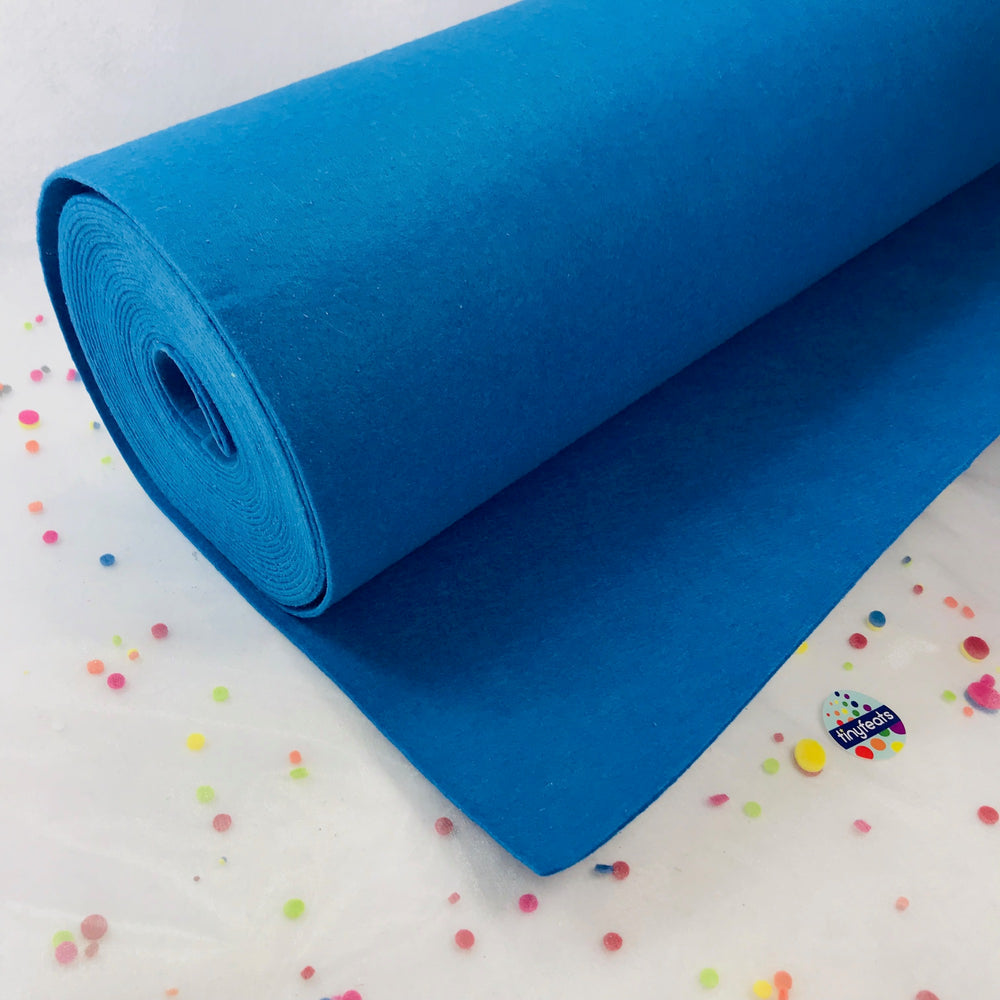 3mm Thick Felt by the Yard - Blue Mid Weight Felt - 100% Polyester Non Woven Fabric