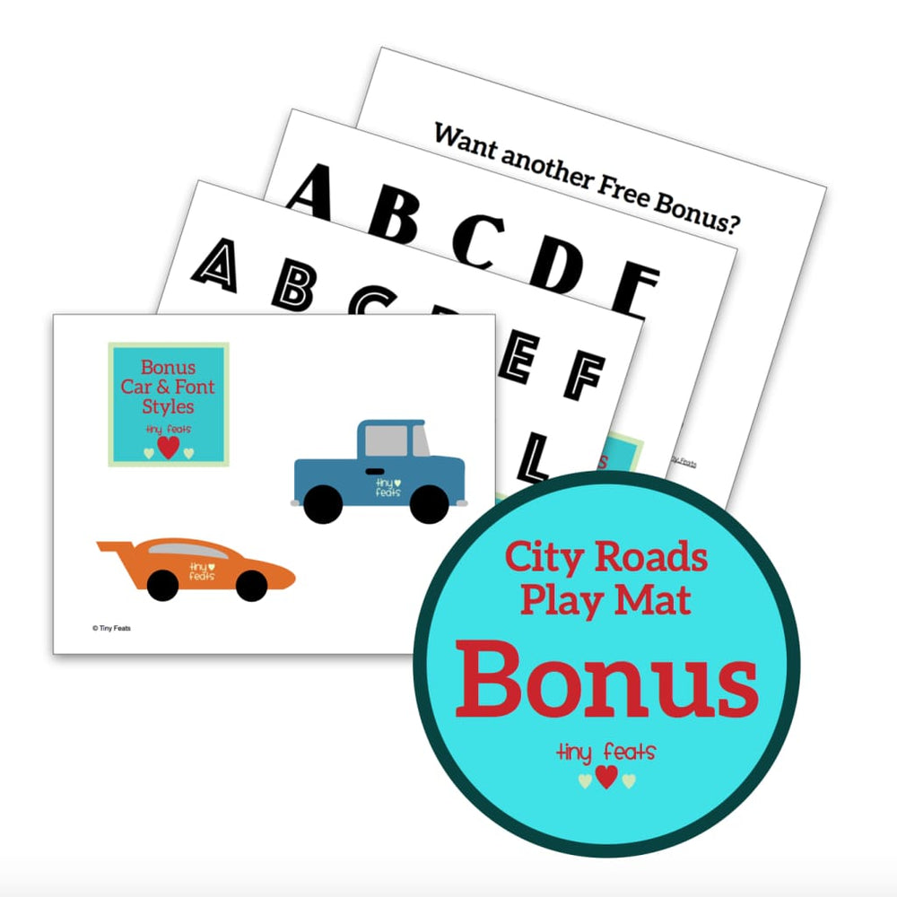 BONUS City Roads Car Activity Mat (Personalization Bonus)