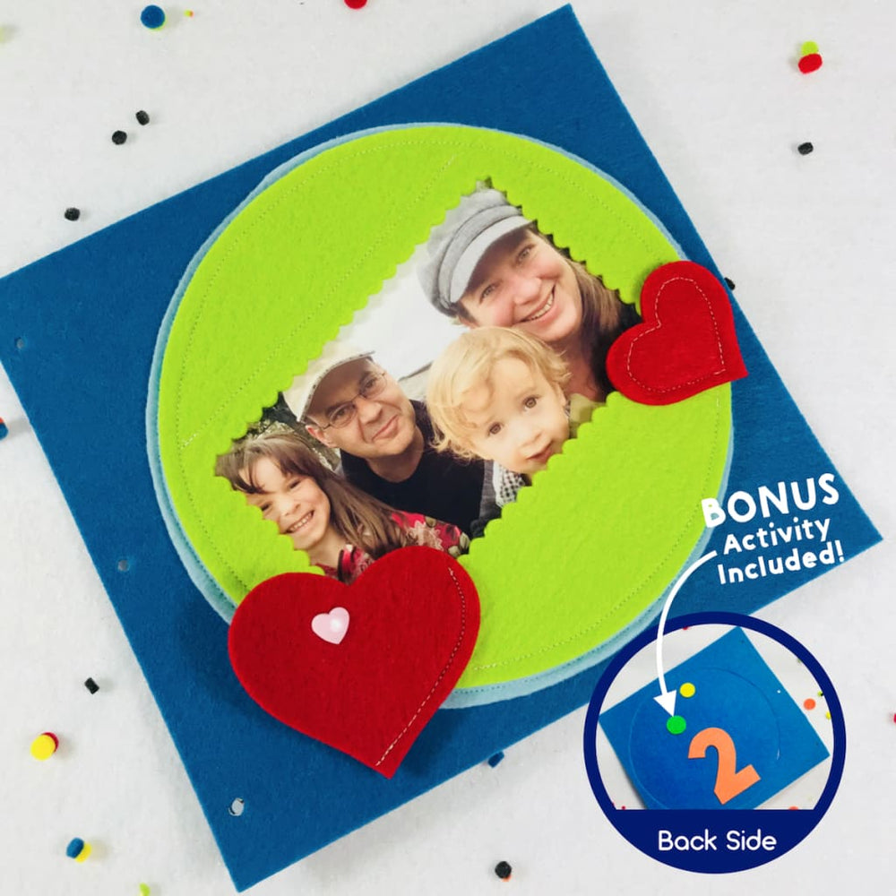 DIY Sewing Kit for Family Photo Quiet Book Page Ready to Sew Kit