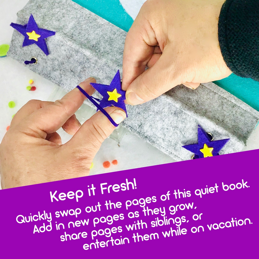 Build a Custom Quiet Book - 7 Pages