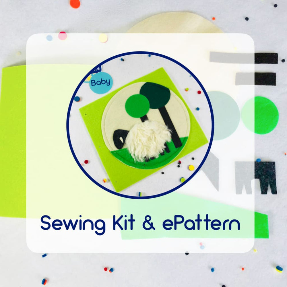 Sewing Kit for Wooly Sheep Quiet Book Page Ready to Sew Kit