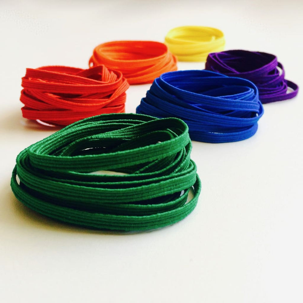 Skinny Elastic - Rainbow Color Set Craft Supplies