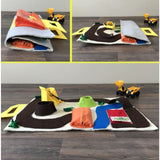 Toy Construction Quiet Book for Digger Excavator and Dump Truck Activity Mat