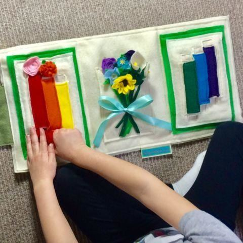 Montessori Flower Arranging Activity