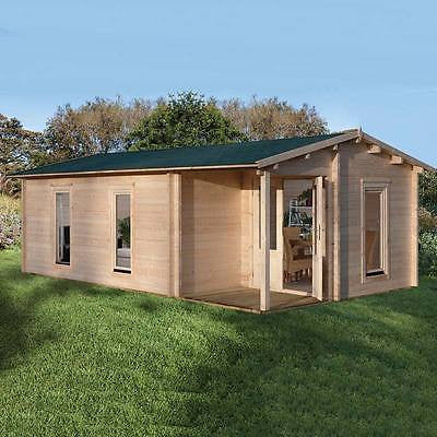 Log Cabin Woodbury 58mm Forest Garden 22'9''x13'1'' 7x4m Cabins Wood Chalet