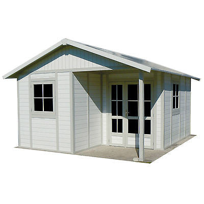 Garden Cabin Grosfillex Deco 16 x 13ft PVC Cabins Deco 20B  Country Sheds Outdoor Shed