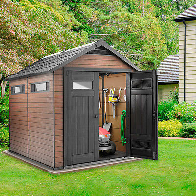 garden shed keter fusion 76x9 plastic storage patio strong patio sheds garden