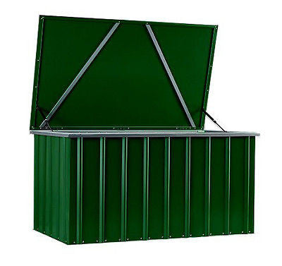 Garden Storage Box Lotus Cushion Boxes 5'x3' Heritage Green Steel Patio Poolside