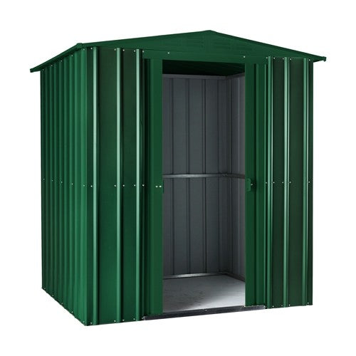 Metal Shed Lotus 6'x3' Solid Green Storage Steel Sheds Patio