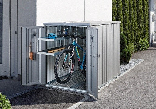 Biohort Mini Garage Bike Storage Shed 4' x 7 Quality