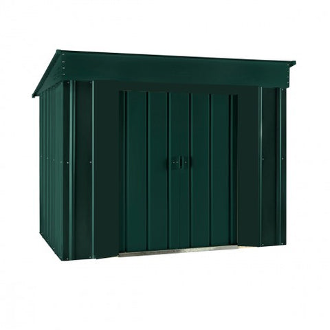Metal Shed Lotus 6'x4' Low Pent Solid Green Steel Storage Building Sheds
