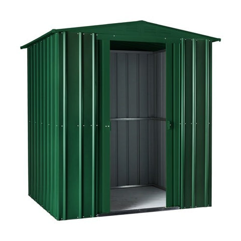 Metal Shed Lotus 6'x4' Apex in Solid Green & Cream Storage Steel Sheds